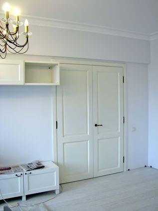 Белых дверей в разных интерьерах